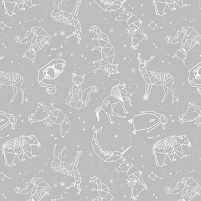 constellations // grey kids animals baby nursery kids animals geometric origami andrea lauren