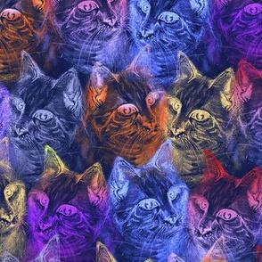 PRECIOUS GLITTER CAT neon periwinkle blue