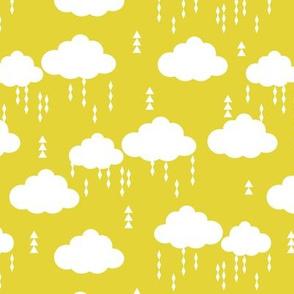 clouds rain raincloud cloud yellow bright kids nursery baby