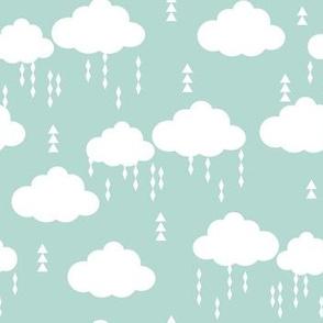 cloud clouds rain raincloud mint nursery baby kids