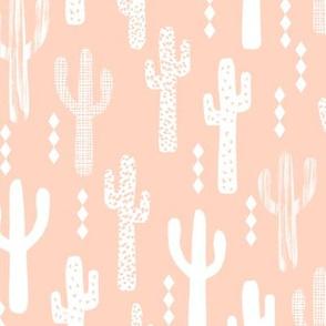 cactus pastel pink baby girl desert southwest nursery