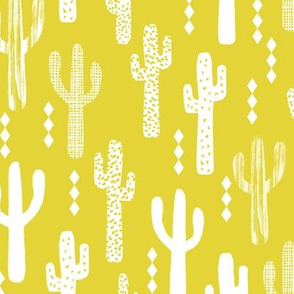 cactus bright yellow southwest desert nursery