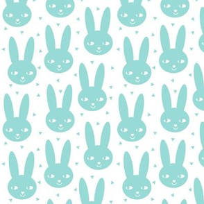 happy bunny sweet kids nursery spring mint blue ice blue kids scandinavian rabbit