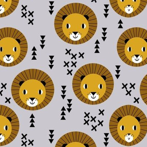 lion safari kids zoo lions grey boy boys room boys nursery