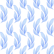 Pattern with blue leaves 2