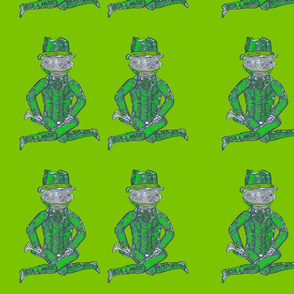 green_frog_on_green_background