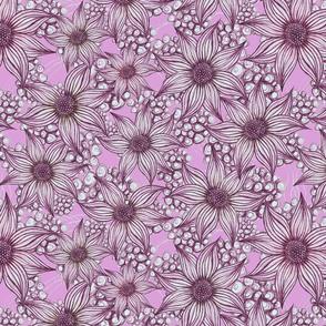 florals pink