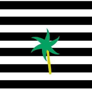 Emerald Palm Stripes XL - onyx snow