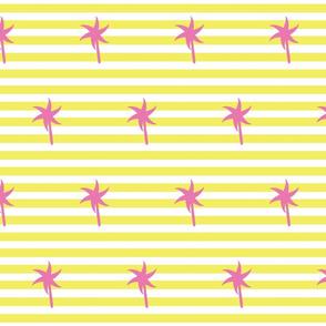 Preppy Palm Stripes MEDIUM -Lemon Berry
