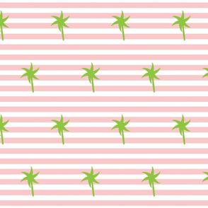 Preppy Palm Stripes MEDIUM - petal kiwi