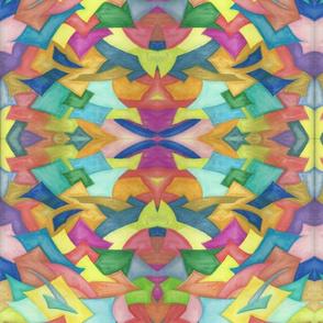 Watercoloured Geometrics Mirrored