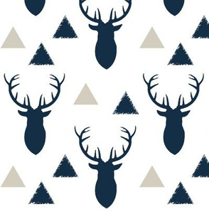 Navy_Deer_Heads_and_Triangles_White_Tan