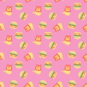 Burgers and Fries Pink