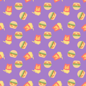 Burgers and Fries Purple