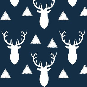 Navy_and_White_Deer_Heads_Triangles
