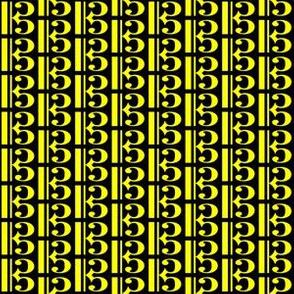 Yellow Music C Clef (Alto) on Black