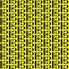 Black Music C Clef (Alto) on Yellow