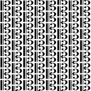 Black Music C Clef (Alto) on White