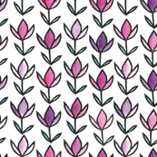 Scandinavian Spring #3 - Violet and Fushia