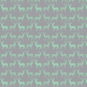 Mint Meadow Deer Mint on Gray