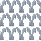 Gray Watercolor Bunny