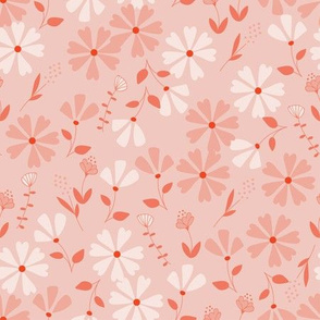 Francesca Floral - pink and red