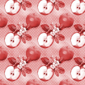 Watercolor Apple Red