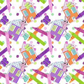 Crayon Crafts and Polka Dots