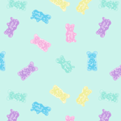 Gummy Bears Gummies Pastel Kawaii Blue