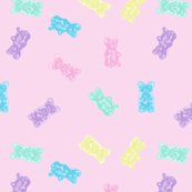Gummy Bears Gummies Pastel Kawaii Pink
