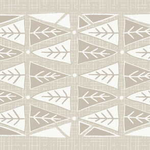 Mod Triangles Tea Towel - Neutral