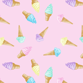 Ice Cream Cones Pastel Kawaii Pink