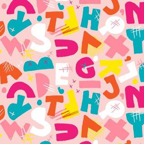 Chunky Abstract Alphapet - Princess