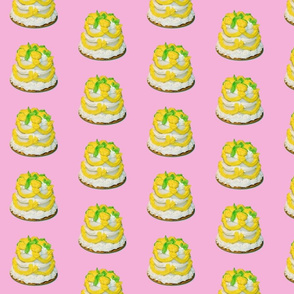 Cakes on Pink