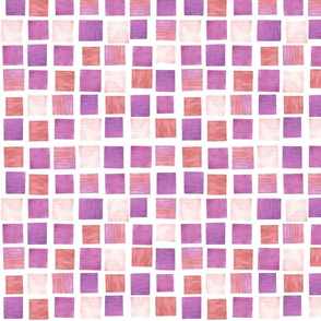 Watercolor Squares: Cotton Candy