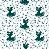 Raccoon Block Print