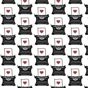 Pen & Ink Typewriter (red heart variant)
