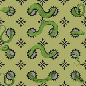 Quilt Stars Green Green