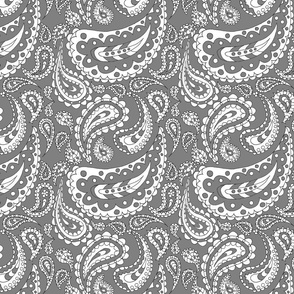 Paisley Doodle (Grey)