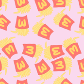 Fries Pastel Kawaii Pink