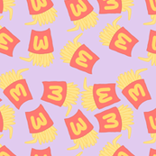 Fries Pastel Kawaii Purple