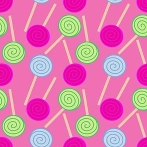 Lollipops On Dark Pink