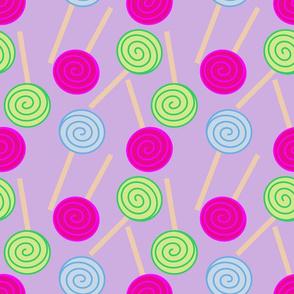 Lollipops On Purple
