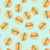 Burgers Pastel Kawaii Blue