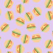 Burgers Pastel Kawaii Purple