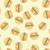 Burgers Pastel Kawaii Yellow
