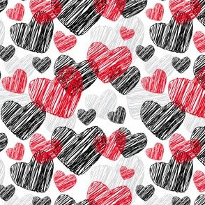 Funny pattern with hearts