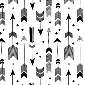 indian summer scandinavian style illustration arrows and geometric crosses gender neutral black and white gray