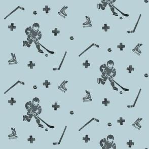 Hockey on Light Blue