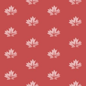 Maple Leaf on Red